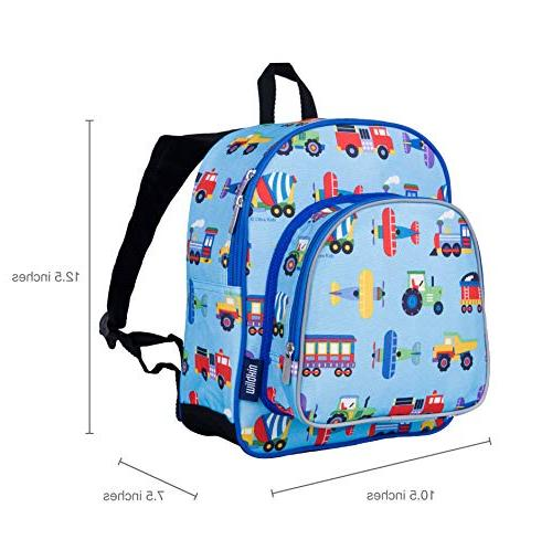 Wildkin Backpack, Includes Insulated, Pocket Water Pocket, Perfect for Preschool, Day Design – Trucks