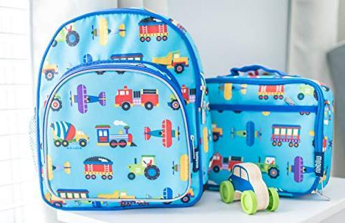Wildkin 12 Includes Insulated, Pocket and Water for Preschool, Design – Trucks