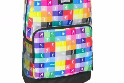 FORTNITE Amplify Multicolor Backpack 17 School Dancing
