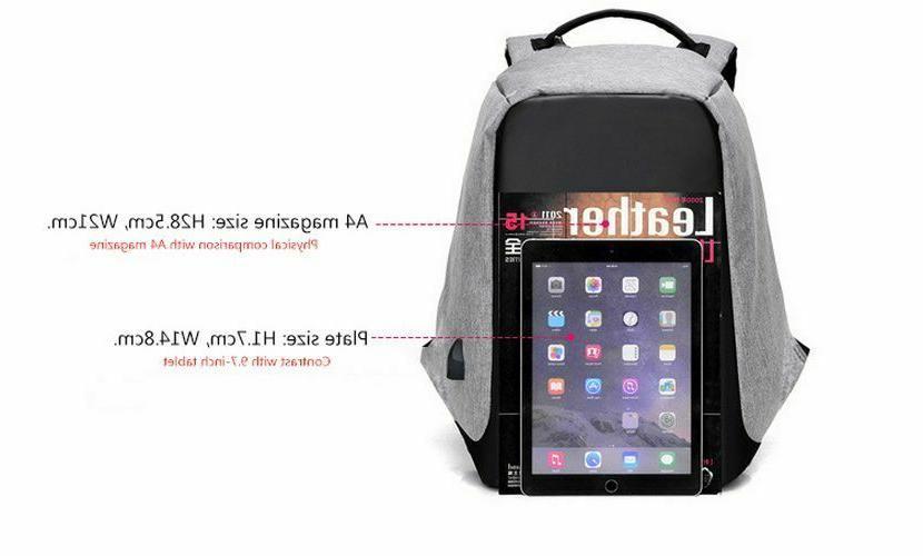 Anti inch Charging Laptop Travel School Bag