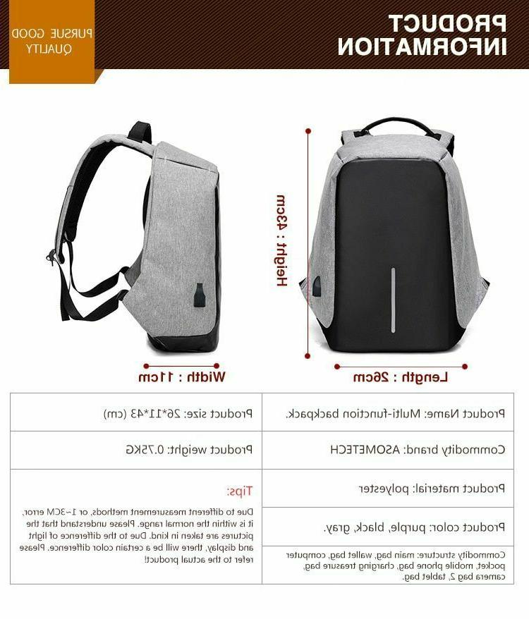 Anti Theft inch USB Laptop Waterproof Bag