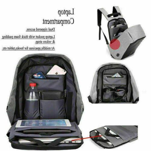 Anti-theft Laptop +USB Charging School Bag