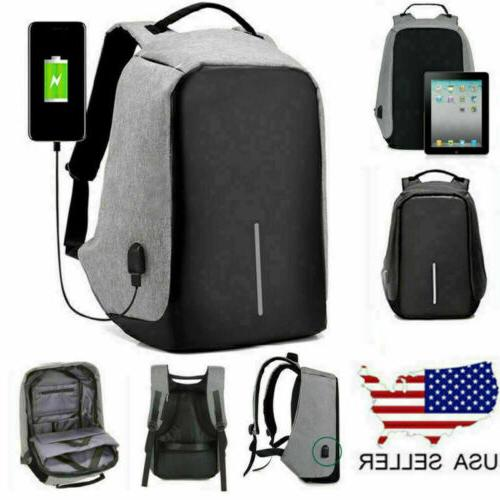 anti theft laptop notebook backpack usb charging