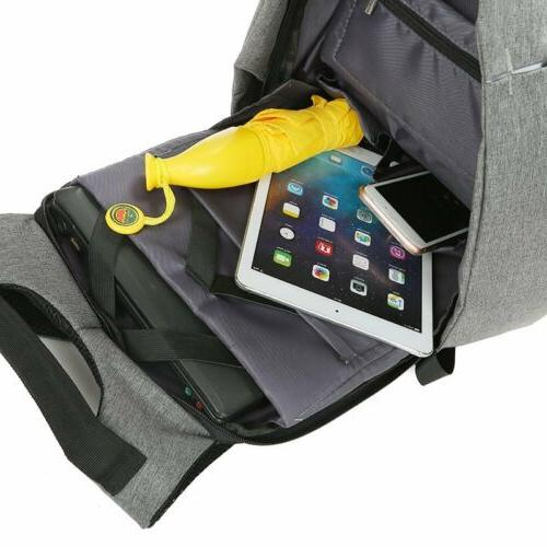 Anti-theft Laptop Backpack USB Travel Durable