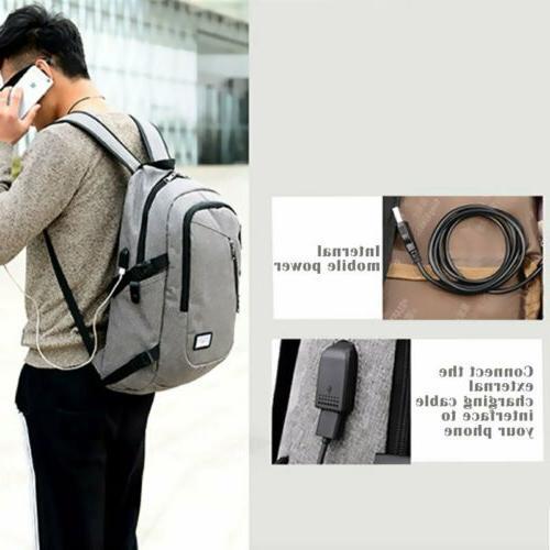 Anti-Theft Mens Charging Shoulder Travel School Bag