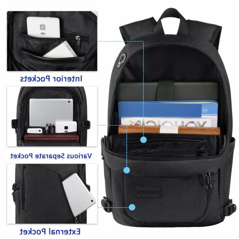 Anti-Theft Business Laptop Book With Usb Charger