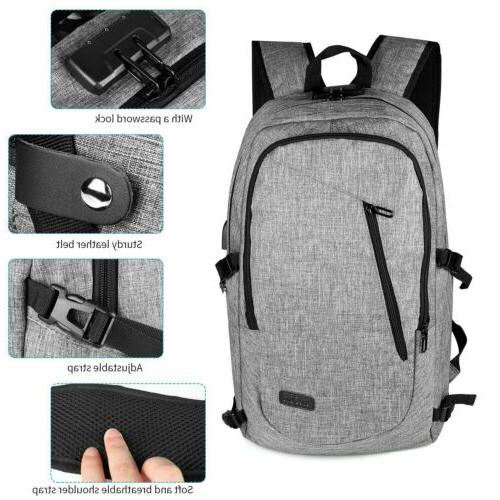 Anti-Theft Backpack USB Laptop