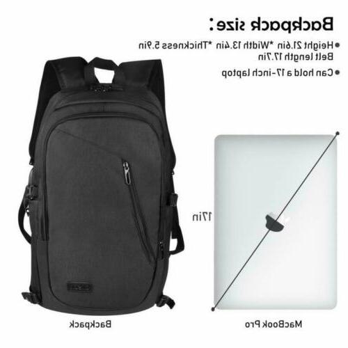 """Anti-Theft Waterproof USB Charge Port 17"""" Laptop Casual Travel"""