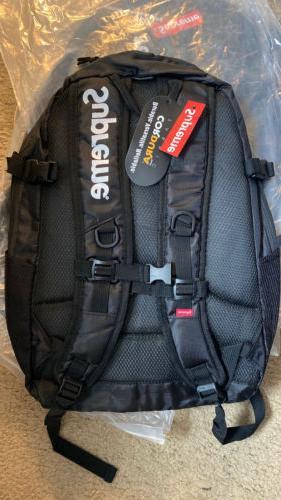backpack bag black reflective