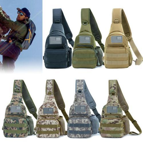 Men Camping Shoulder Bag Chest Pack Backpacks For Outdoor Tr