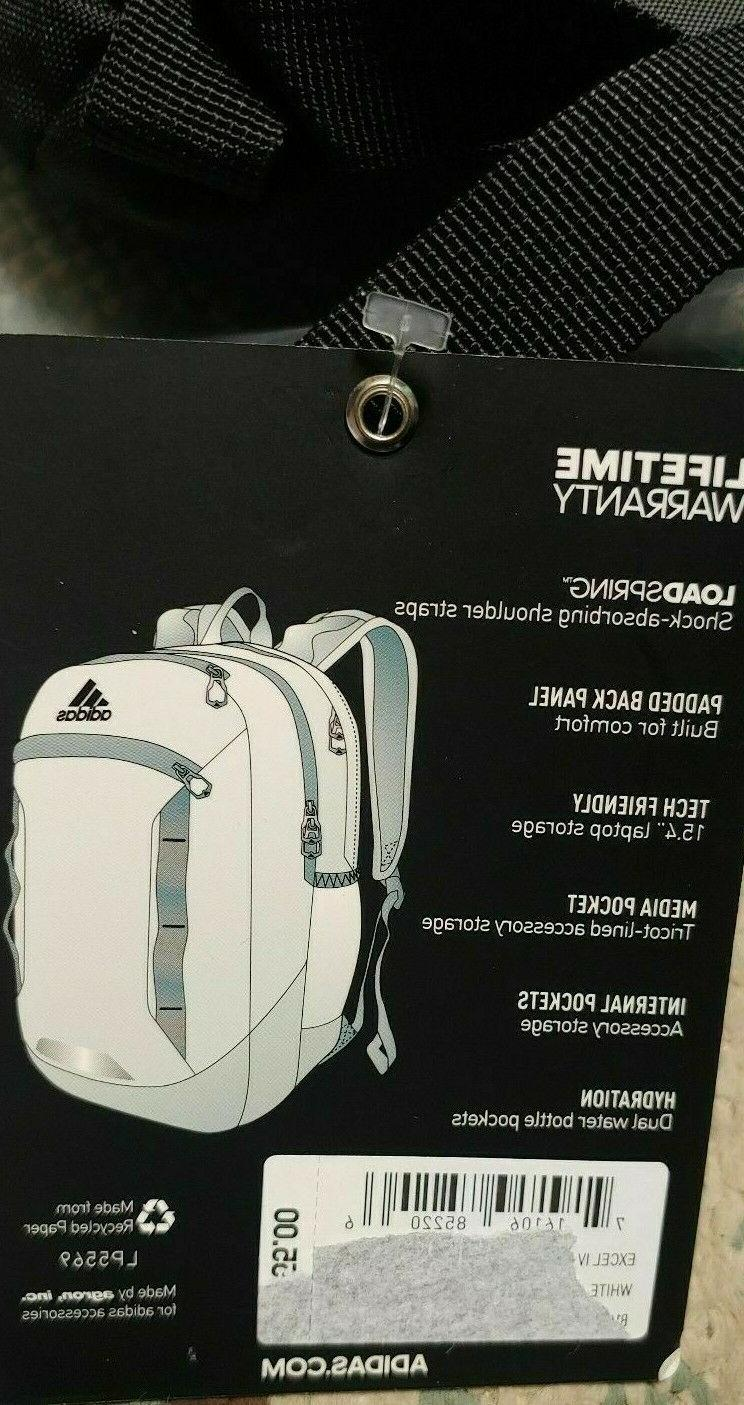 "Adidas Laptop XXL Backpack WHITE 20.5"" NEW NWT"