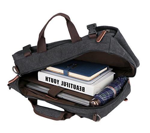 Men's Briefcase Messenger Bag Canvas Laptop Laptop Bags Handbag Hiking