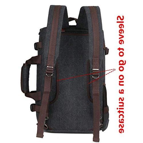 BAOSHA 3-in-1 Men's Messenger Bag Convertible Laptop 15.6 Laptop Handbag