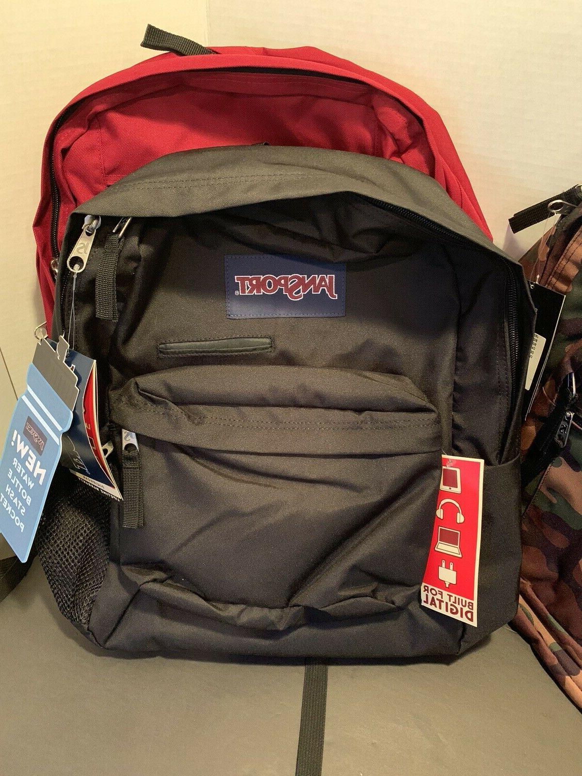 JanSport Student Backpack -NWT Surplus Viking Red Digibreak