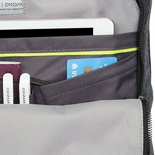 KNOMO Brompton Backpack Felt 15-Inch, Ash Gray