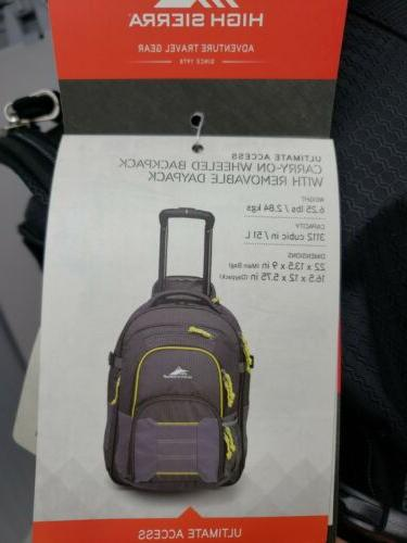 High Business Travel 22 Wheeled Carry-On Backpack Luggage lb