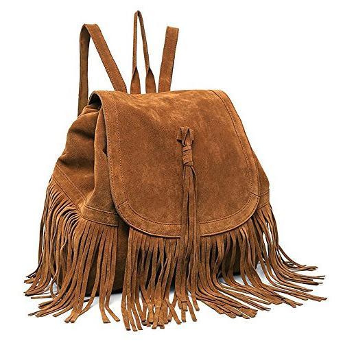 Women's BackpackTassel Shoulder Bag