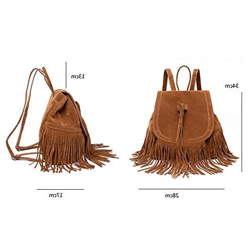 Cai- Women's BackpackTassel Shoulder Bag