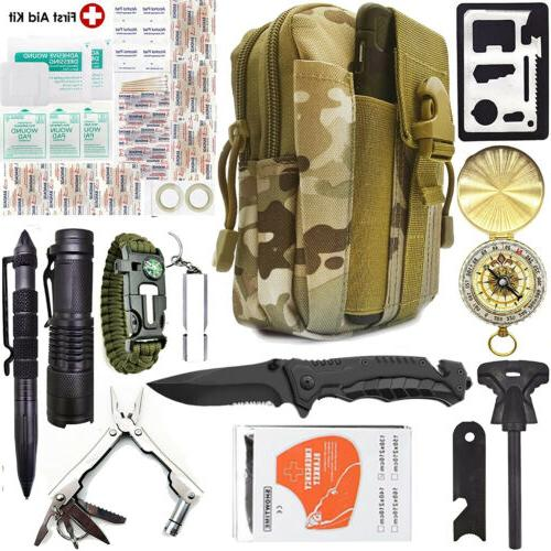 camping survival kit 40 in 1 outdoor