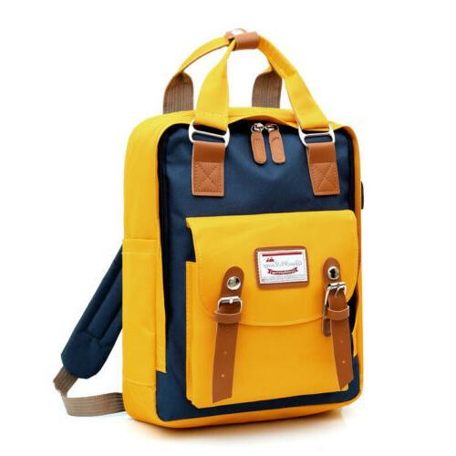 Canvas Backpack School Travel Satchel Bag US