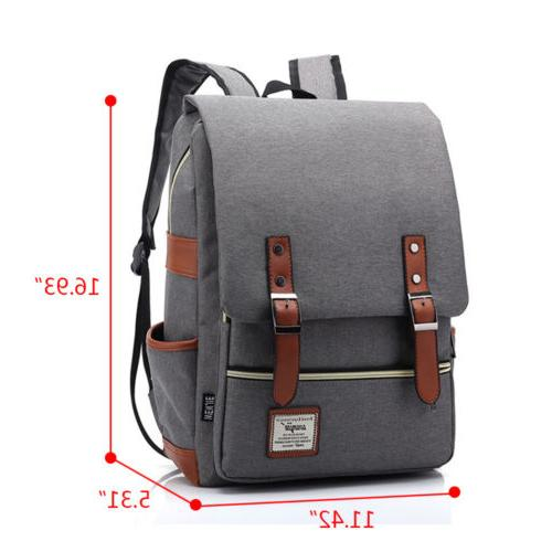 Canvas Mens Women School Travel Satchel