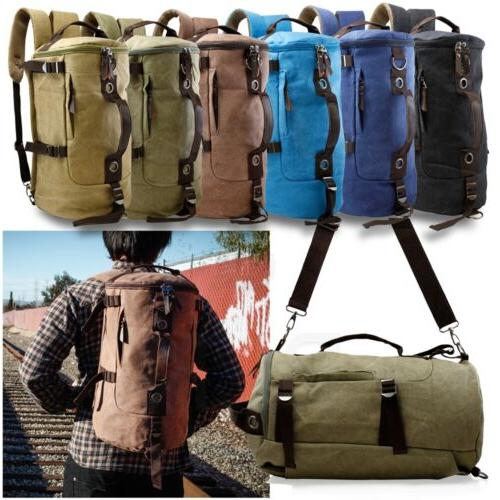 canvas backpack travel camping sport rucksack school