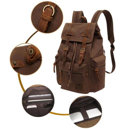 Vintage Backpack Hiking Daypacks Laptop Backpacks Unisex Cas
