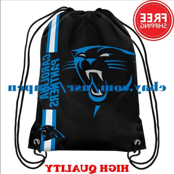 Carolina Panthers Logo Drawstring Backpack Fan Gym Sport Bag