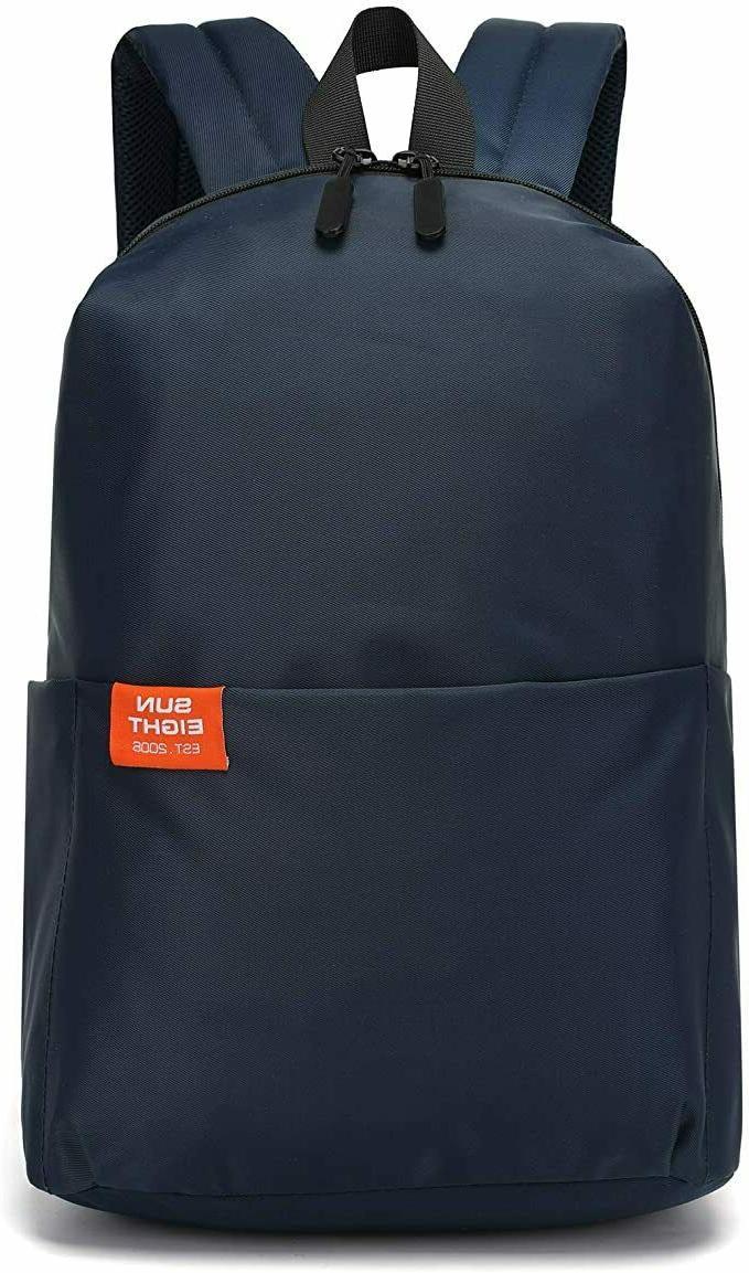 Casual Daypack Backpacks Lightweight Waterproof Canvas Book