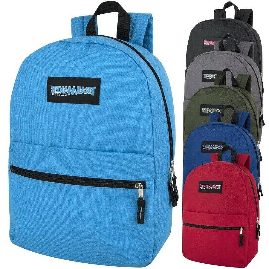 classic 17 inch backpacks in 6 assorted