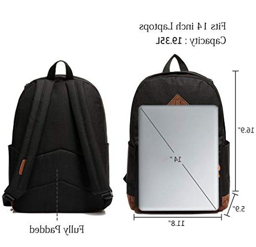 Vaschy Classic Lightweight Water-resistant School Rucksack Travel Backpack Bookbag Fits