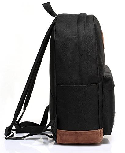 Vaschy Classic Water-resistant Travel Backpack Bookbag Fits