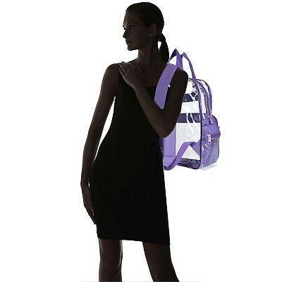 DALIX Clear Plastic Purple Free Shipping