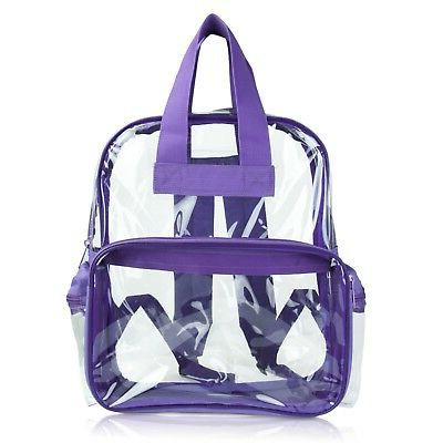 DALIX Clear Backpack Small in Purple Free Shipping