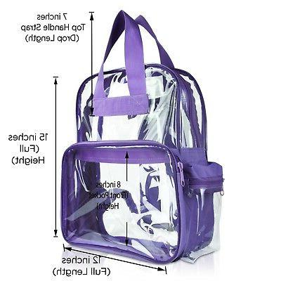 DALIX Clear Small Bag in