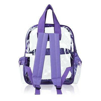 DALIX Clear Small School Purple Free
