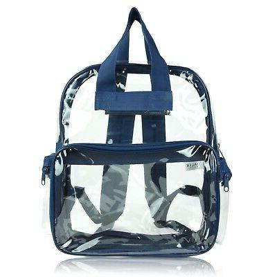 DALIX Clear Backpack School Pack Through Bag in Blue FREE SHIPPING
