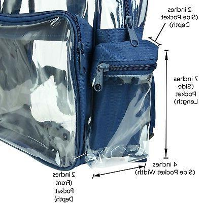 DALIX Backpack School Pack See Bag in Navy Blue FREE SHIPPING