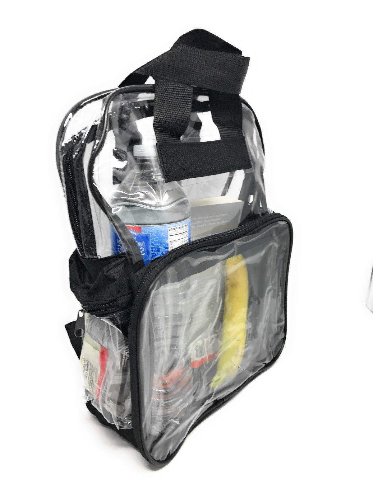 Clear Backpack Bag School Stadium TSA Rally 3