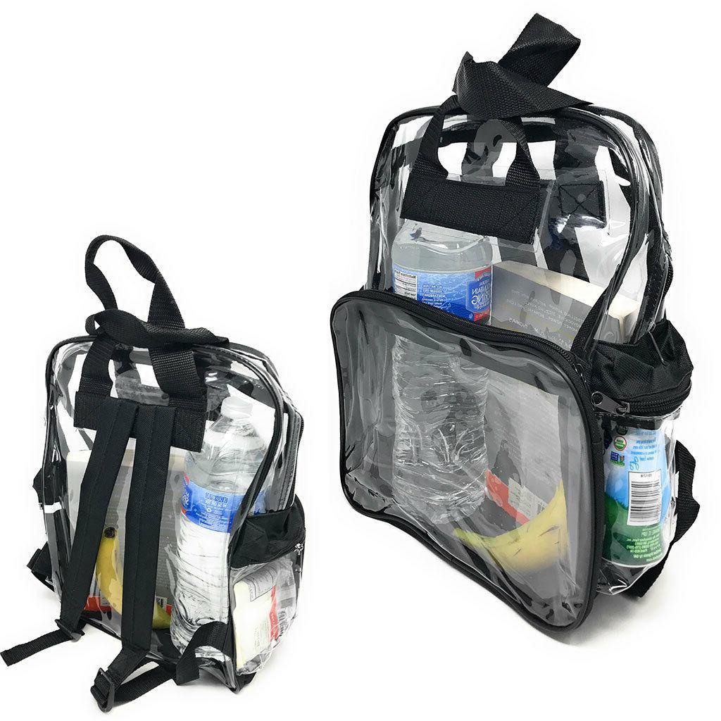 clear transparent backpack book bag school stadium