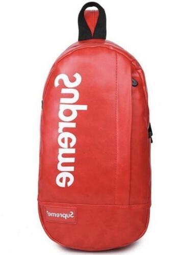 crossbody backpack bag red