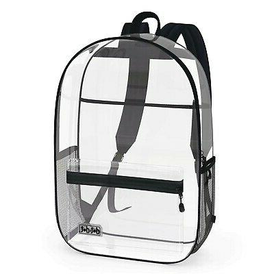 dot and dot heavy duty clear backpack