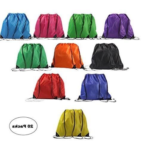 drawstring backpack basic gym sack