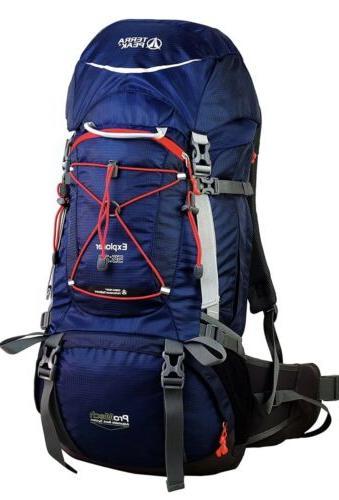 external frame explorer backpacks adjustable hiking 55l