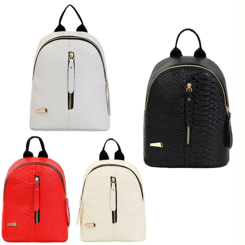 fashion women leather backpacks mini travel rucksack