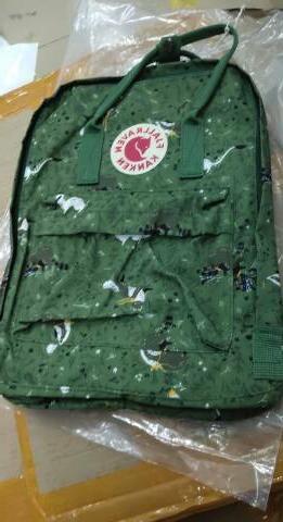 Fjallraven Kan Forest Green Backpack School Canvas
