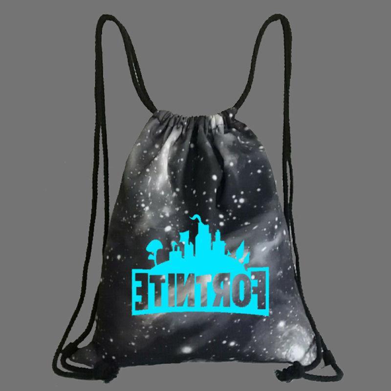 Fortnite Unisex Backpack Gym Drawstring Bag in Dark
