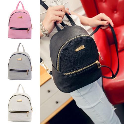 girl bag pu leather backpack mini travel