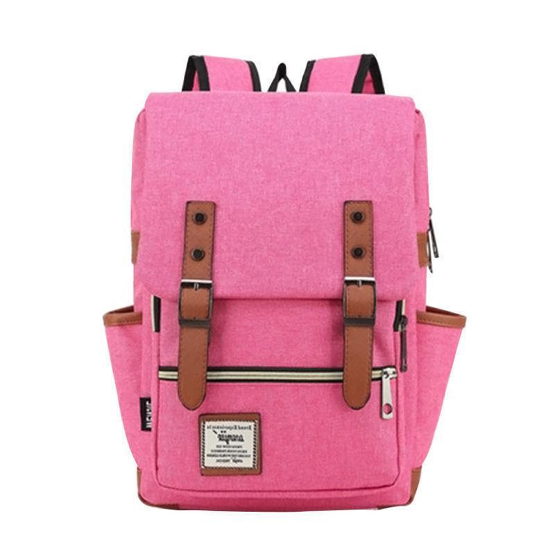 Women Men Canvas Travel Rucksack Bag