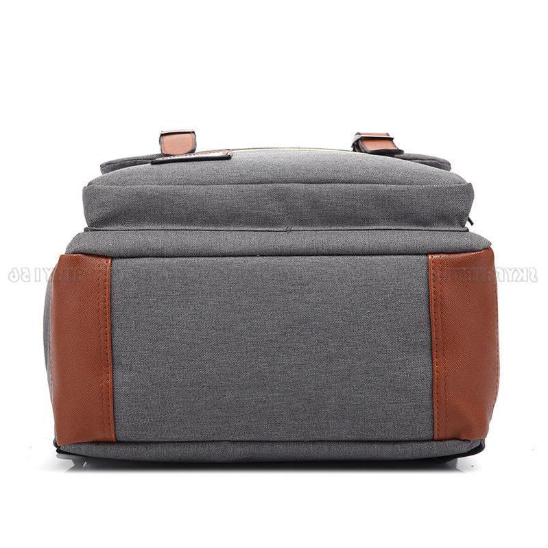 Girl Leather Travel Backpack Rucksack Laptop School Bag